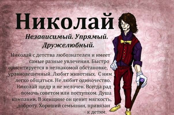 Значение имени Николай (Коля)